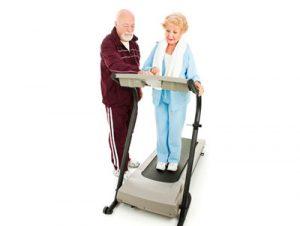 Couple on a treadmill