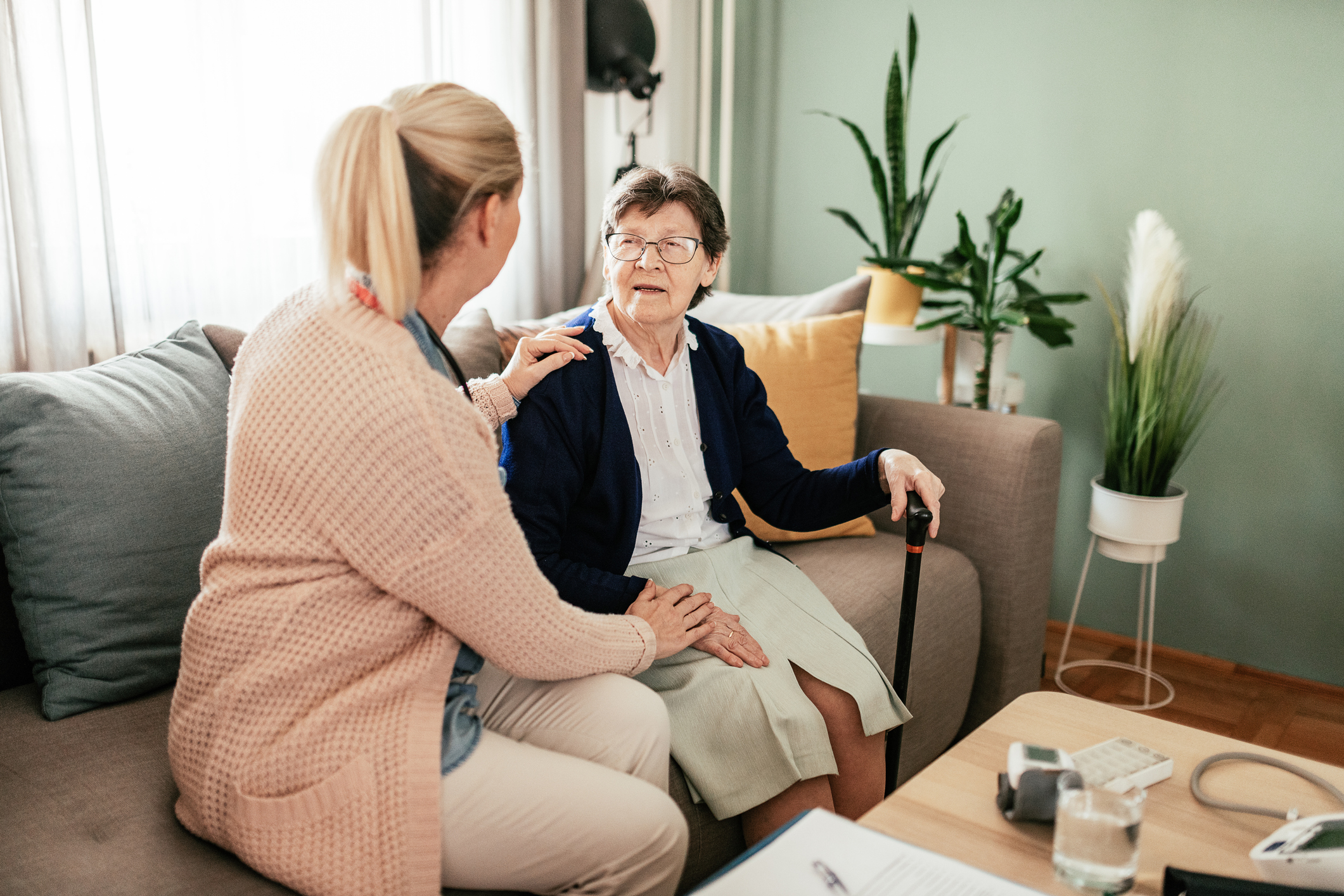 Managing long-term conditions with home health care services helps seniors maintain independence.