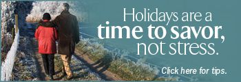 Holidays are a time to savor, not stress